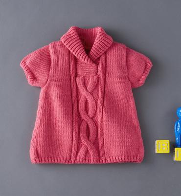 modèle gratuit tricot bébé fille