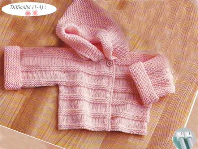 modele tricot layette facile gratuit