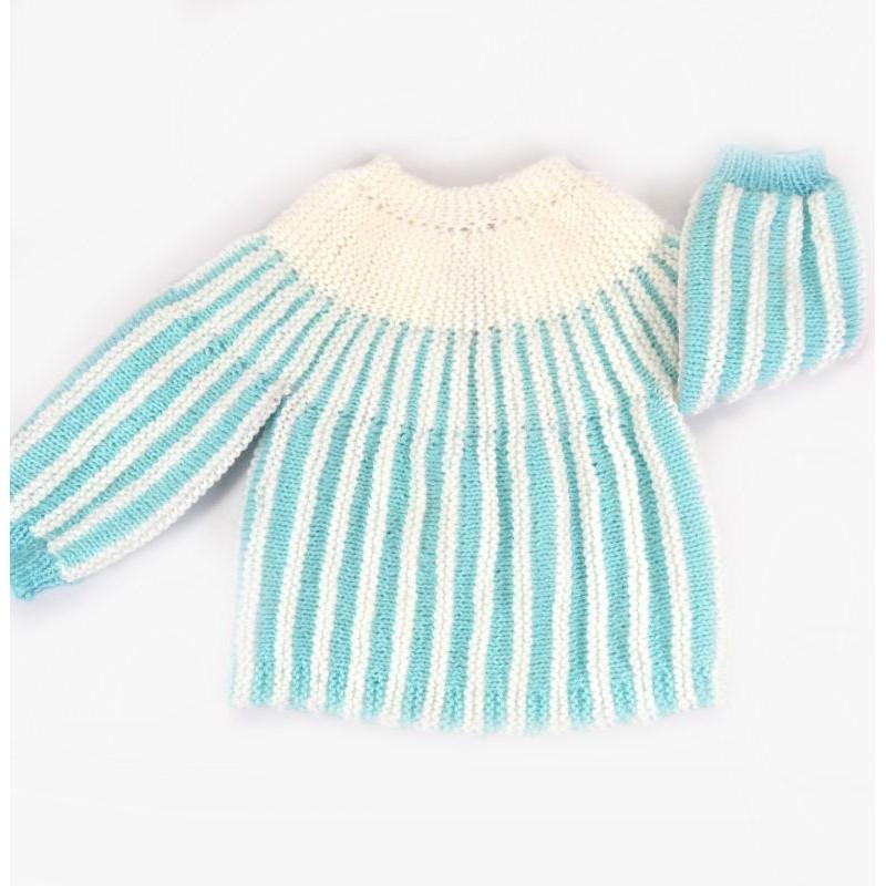 layette tricotée main bébé