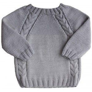 modele de pull a tricoter gratuit pour bebe