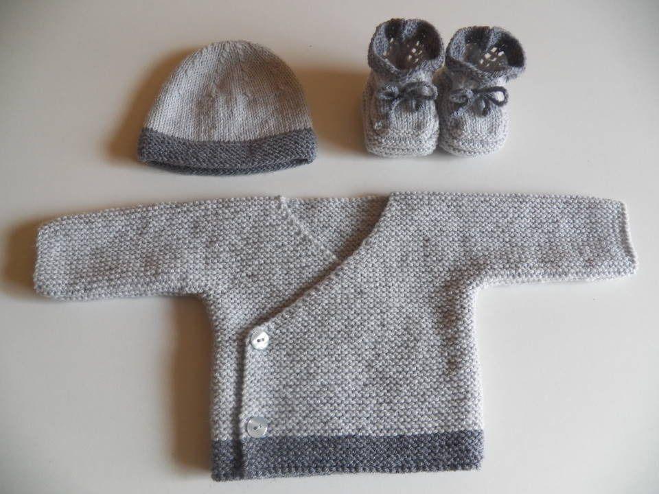 brassière en laine bébé naissance a tricoter
