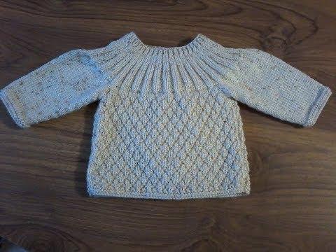brassière pour bébé à tricoter