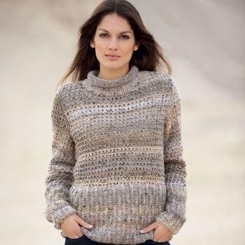 modele de pull à tricoter gratuit facile