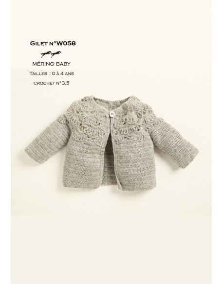 modele de gilet a tricoter gratuit pour bebe