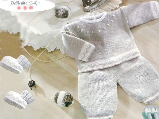 tricot layette naissance gratuit