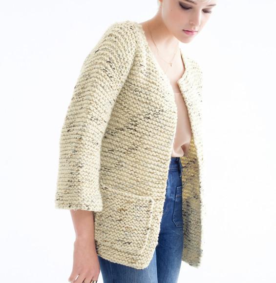 veste a tricoter pour femme gratuit